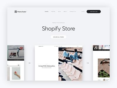 Working on our store Pixerex Studio website templates html5 sketch app sketch blogger shopify wordpress ui ux digital marketing design digital agency store design storefront store