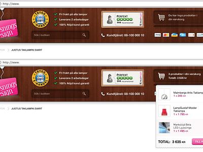 Cart drop-down magento cart dropdown ecommerce header checkout
