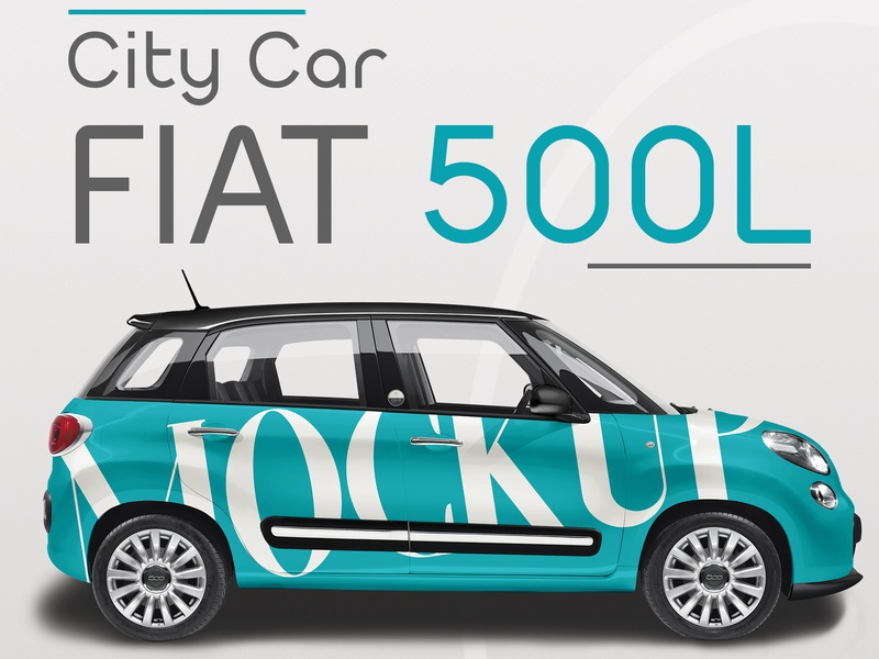 Realistic City Car Fiat 500 Mockup By Nicola Mostallino Dribbble