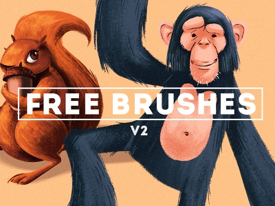 Free Brushes! (v2) brushes resources free download photoshop texture chalk dirty ink