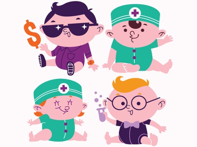 Babies baby illustration character design toddlers
