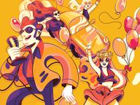 Schlagerparade Chur Illustrations