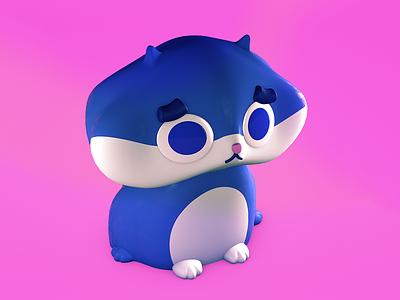 George cat character design design character 3d 3d modeling c4d kitten