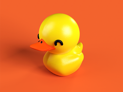 Quack! cinema 4d material texturing toy duck modeling duckie 3d character design character