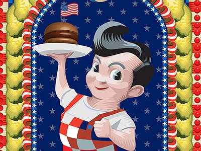 All American Boy american boy big boy pickles vector adobe illustrator qcassetti