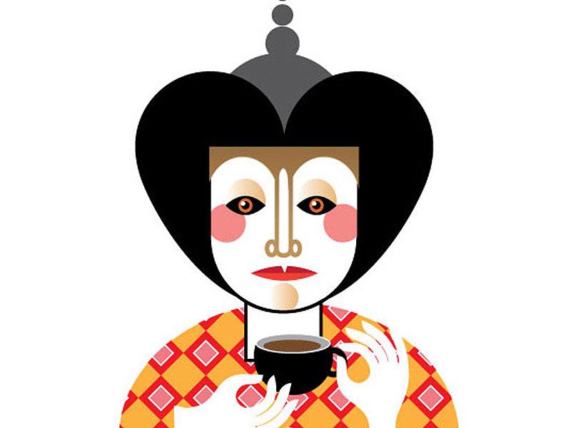 Teatime tea vector woman hand color flat decorative qcassetti 2014