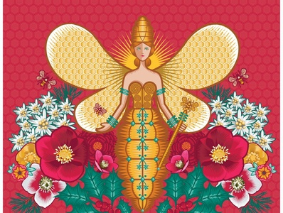Icon for Christmas Beehive 2019 for Galeries Lafayette, Paris