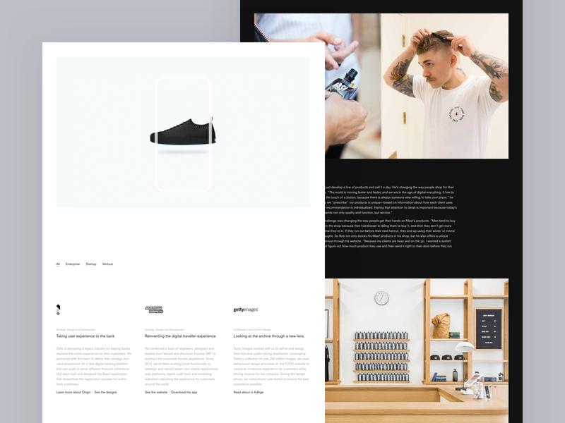 Versett Website Redesign website typography ux ui dark minimalist agency redesign