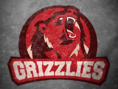 Revised Grizzlies Logo sports logo bear red grizzly vector