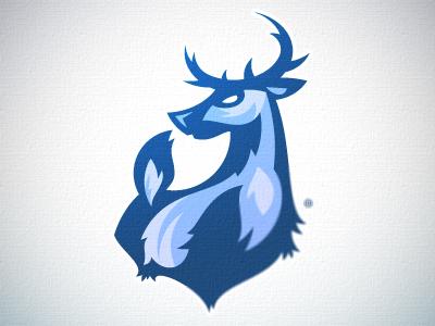 WhiteTails Revised logo vector sports deer antilope buck animal