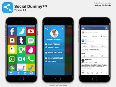 Social Dummy v4.x (2018) ui design app