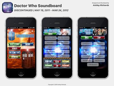 Doctor Who Soundboard (2011-2012) ui design app