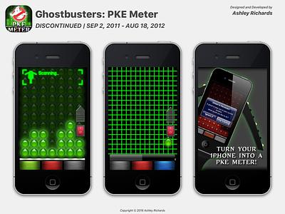Ghostbusters: PKE Meter (2011-2012) ui design app