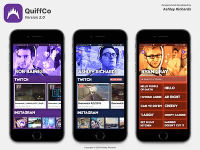 QuiffCo Version 2.x ui design app