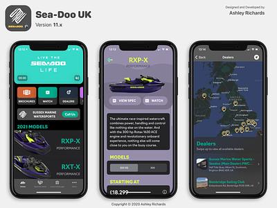 Sea-Doo UK - Version 11.x app ui design figma sketch