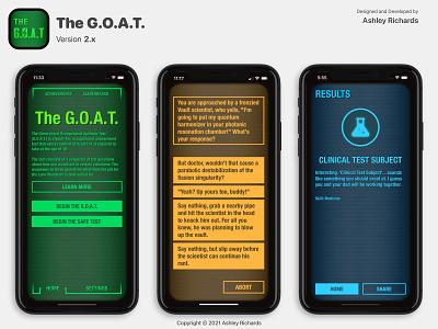 The G.O.A.T. - Version 2.x mobile figma sketch ui design app