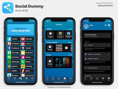 Social Dummy - Version 5.1.x mobile sketch figma ui design app
