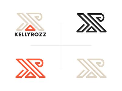 KellyRozz Logo futura typography type logo design design branding logo fitness physical therapy personal training health nutrition kelly rozz griffin