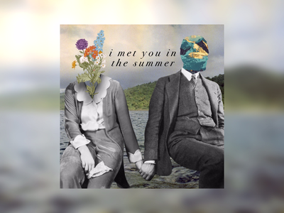 i met you in the summer photography vintage figure illustration cut and paste digital collage collage