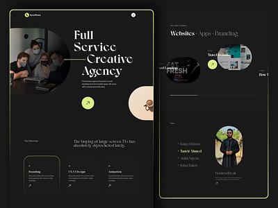 Digital Agency | Landing Page 2022 trend trendy typography trendy design 2021 business minimal startup landing page corporate marketing portfolio illustration clean creative typography