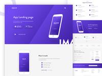 Imagine App Landing page