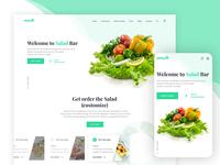 Saladbar Landing page concept