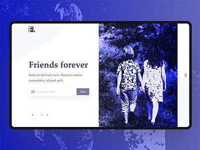 Friends Forever UI Concept header friends ux ui clean trend minimal herosection