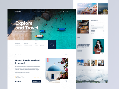 Travel Landing Page landing typography webdesign digital agency creative agency template clean web designer vacation design ux travel agency sand travel pyramids minimal layout design landing page interface desert egypt creative clean ui
