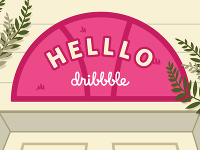 Helllo Dribbble first post hello dribbble hello illustration first shot