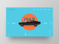 First dribbble shot / Mustang 1969