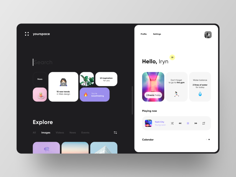 Yourspace Browser inspiration inspired browser webdesign web ui ui ux