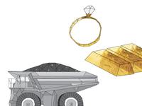 gold mining illustrations