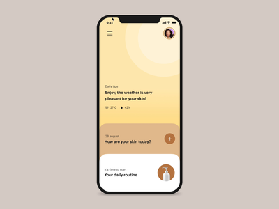 [der.me] changing profile - prototype iphone app skin skincare ui ux user experience user interface