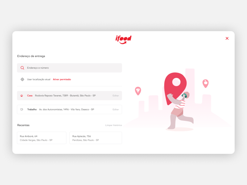 iFood website ui design ux user experience user interface ui