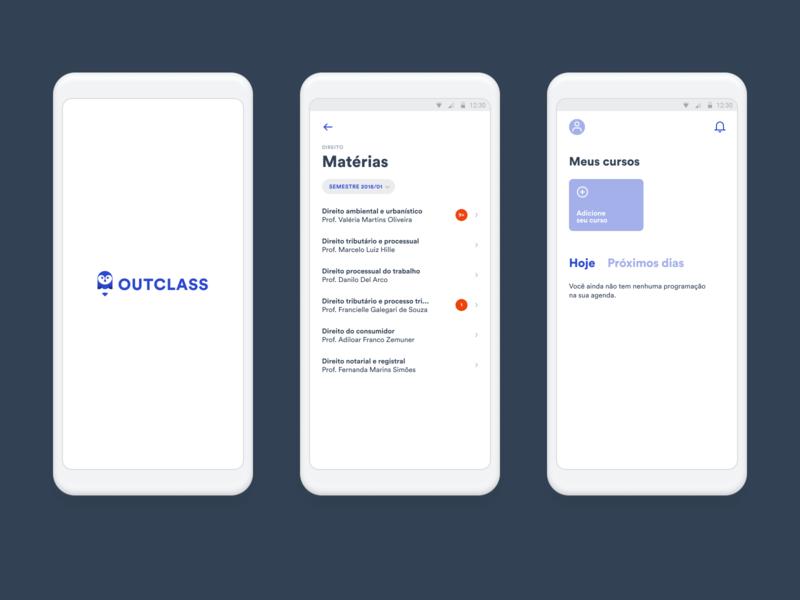 Outclass app app design education app education ux ui design user experience user interface ui