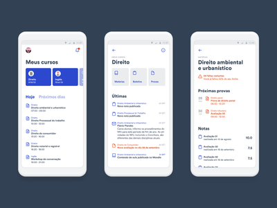 Outclass app rebound minimal sketch figma education app ui mobile design interface android
