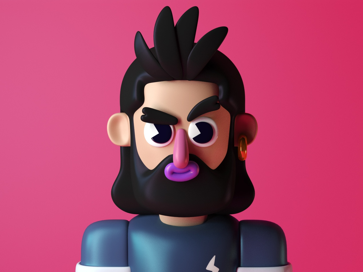 guy toy cool illustration guy cinema4d design characterdesign characters 3d