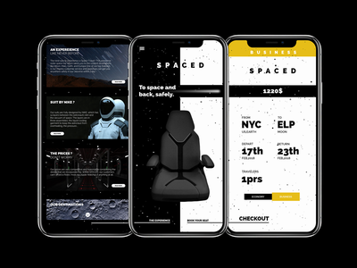 App interface - SPACED