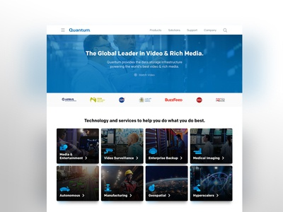 Data Storage Homepage Design