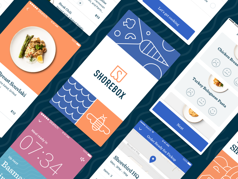 Shorebox mobile app overview sentinel startup illustration photography product design ui ux splash screen ios android mobile