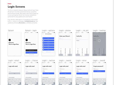 Login Screens UI Kit free sketch resource app mobile iphone ios pattern ui kit login