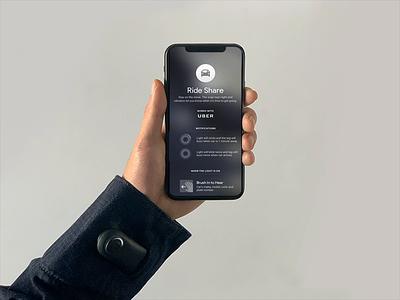 Jacquard by Google – Ride Share ios interface apparel jacket app product design rideshare ux ui wearable animation google jacquard