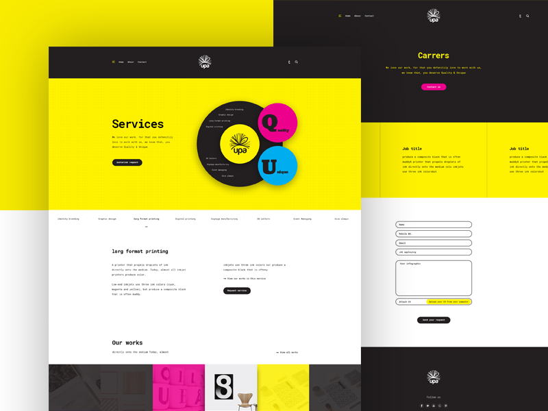 Services Carrers Pages Of Upa By Nora El Gallad On Dribbble