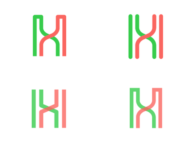 helix [Meiotic Recombination] helices red green double logo genetics biology over crossing h helix