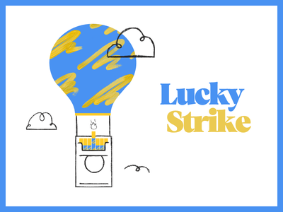 Lucky Strike hot air balloon hot cigarettes illustration dropbox strike lucky lucky strike