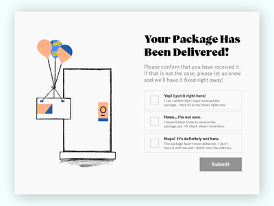 Package Notification pencil illustration package design sketchnotes notification package