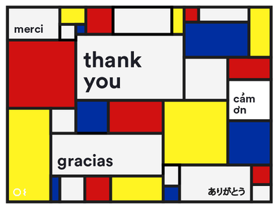 Thank You Card gracias merci print card thank you card thank-you thank thank you