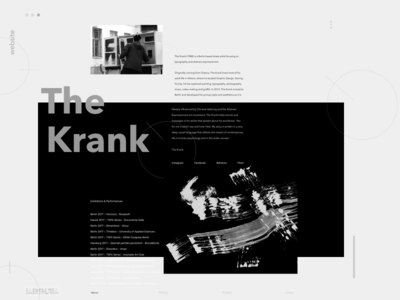 The Krank art animation website ux ui