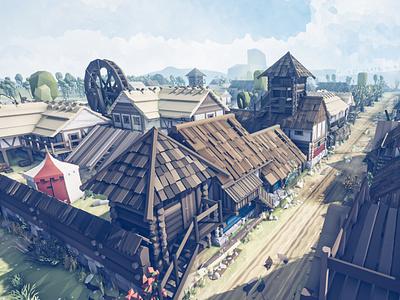 Slavic Medieval Town town city slavica slavic kingdom medevial