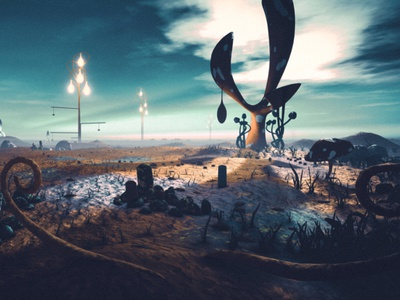 Strange Lantern fantasy art moon planet scifi fantasy envoirnment landscape unity assets illustration